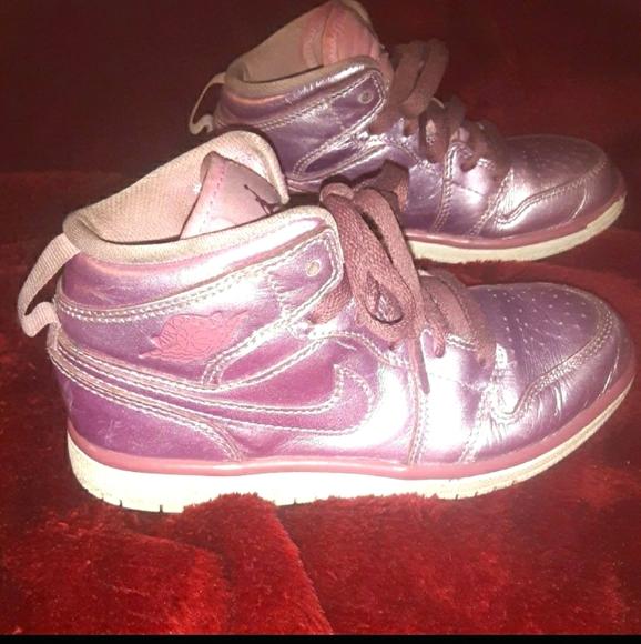 Rose Gold Nike Air Jordan's 1 Retro Mid